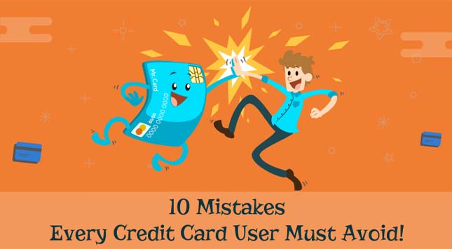 10 Mistakes of Credit Card