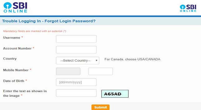 Forgot My Login Password Information