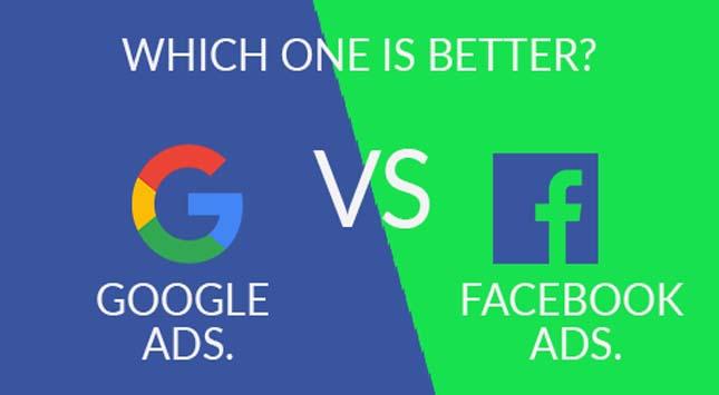 Google Ads. Vs. Facebook Ads